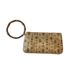 Vintage Carolee Wristlet with Bamboo Ring Handle